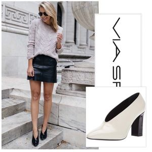 VIA SPIGA Women's Baran Block Heel Pump Size 40